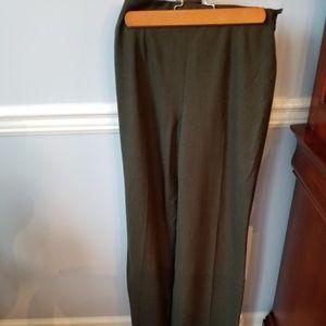 Ralph Lauren Green Wide Leg Dress Pant Black Label